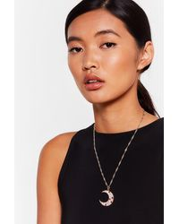 """Nasty Gal """"don't Blame It On The Moonlight Necklace"""" - Metallic"""
