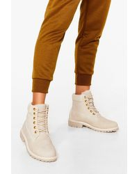 Nasty Gal Tough Break Faux Suede Ankle Boots - Multicolour