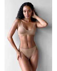 Nasty Gal String Sans Coutures Intime Conviction - Marron