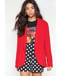 Nasty Gal - Do Your Thing Relaxed Blazer - Lyst