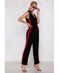 Nasty Gal - People Of The World Striped Jumpsuit - Lyst
