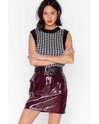 Nasty Gal I'm Totally Vinyl High-waisted Mini Skirt - Multicolour