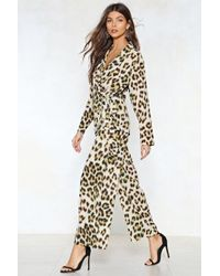 Nasty Gal | Prowlin' Around Leopard Top And Trousers Set | Lyst