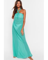 "Nasty Gal ""shell We Dance Chiffon Cover-up Dress"" - Green"