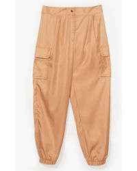 Nasty Gal Cargo Your Own Way Plus Trousers - Natural