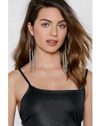 Nasty Gal - Fall For Me Hoop Earrings - Lyst