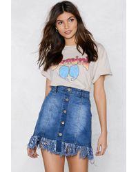 Nasty Gal - End Of Time Fringe Skirt - Lyst