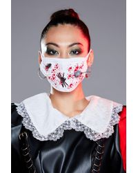 Nasty Gal Halloween Fashion Face Mask - White