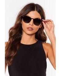 Nasty Gal Hello Sunshine Tortoiseshell Sunglasses - Marron