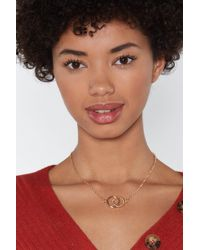 Nasty Gal - Double Circle Necklace - Lyst