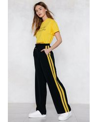 Nasty Gal - Line 'em Up Oversized Joggers - Lyst