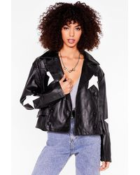 Nasty Gal Make A Star-t Faux Leather Relaxed Jacket - Black