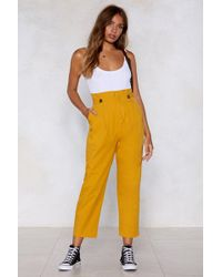 Nasty Gal - Life's A Bag Tapered Trousers - Lyst