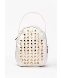 Nasty Gal Want Stud A Chance Mini Backpack - White