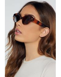 "Nasty Gal ""oval The Moon Tortoiseshell Sunglasses"" - Brown"