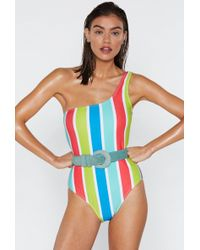 8d43581d15 Lyst - Nasty Gal Lifeguard Off Duty Slogan Scoop Swimsuit Lifeguard ...