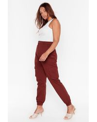 """Nasty Gal """"cargo Wrong Plus Utility Pants"""" - Red"""