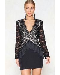 Nasty Gal - Plunge Tassel Mini Dress Plunge Tassel Mini Dress - Lyst