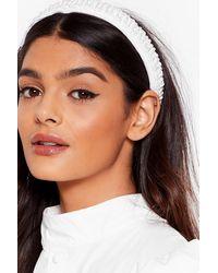 Nasty Gal Pearl Bye Embellished Headband - White