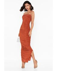 """Nasty Gal """"only Fools Ruche In Maxi Dress"""" - Multicolour"""