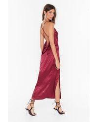 Nasty Gal Prey Tell Cowl Midi Dress - Red