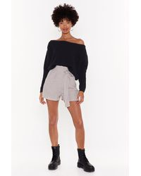 """Nasty Gal - """"all Out Of Stripes High-waisted Linen Shorts"""" - Lyst"""