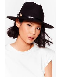 Nasty Gal Pay Close Attention Fedora Hat - Black