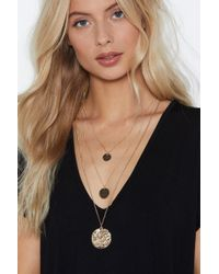 Nasty Gal - Circle Back Layered Necklace - Lyst