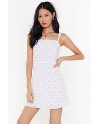 "Nasty Gal ""time To Grow Floral Mini Dress"" - White"
