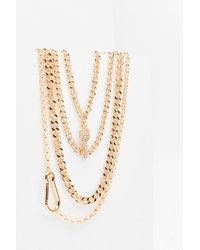 Nasty Gal Key To My Place Chunky Chain Necklace - Metallic