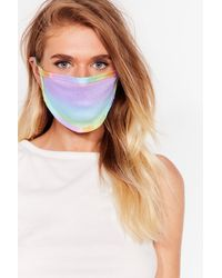 Nasty Gal Masque Facial Fashion Arc-En-Ciel - Jaune