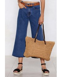 Nasty Gal - Want Quick On The Straw Tote Bag - Lyst