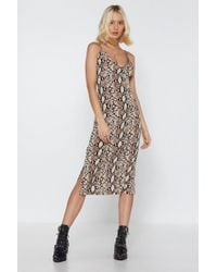 """Nasty Gal - """"snake Yourself At Home Midi Dress"""" - Lyst"""