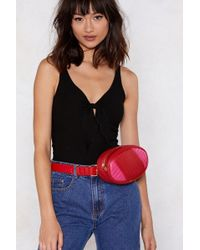 Nasty Gal - Want Quilt Wasting Time Belt Bag - Lyst