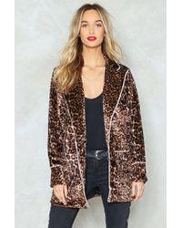 Nasty Gal | Leopard Print Velvet Jacket Leopard Print Velvet Jacket | Lyst
