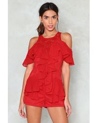 Nasty Gal - Got To Be Real Ruffle Romper Got To Be Real Ruffle Romper - Lyst
