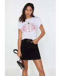da5425b3d5 One Teaspoon Junkyard Distressed Denim Skirt in Black - Lyst