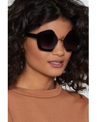 Nasty Gal - Outline The Rules Hexagonal Shades - Lyst