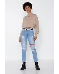 Nasty Gal - Cut Through The Bs Relaxed Jeans - Lyst