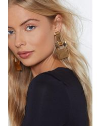 Nasty Gal - Take Good Square Earrings - Lyst