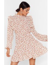 """Nasty Gal """"steal The Grow Floral Mini Dress"""" - Pink"""