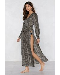 Nasty Gal - Snake It Up With Me Cover-up Dress - Lyst