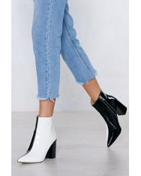 Nasty Gal - Double Take Two-tone Boot - Lyst