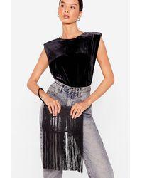 Nasty Gal Want Sway You Love Me Faux Leather Clutch Bag - Black