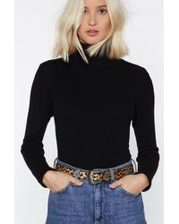 Nasty Gal Dirty Dancing Leopard Belt - Multicolour