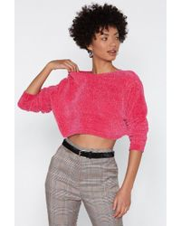 """Nasty Gal - """"knit's Your Call Chenille Sweater"""" - Lyst"""