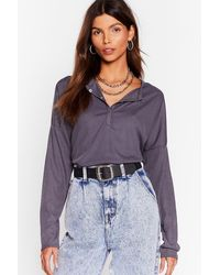 "Nasty Gal - ""it's Poppin' Snap Closure Ribbed Top"" - Lyst"