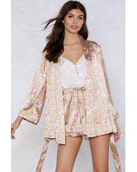 Nasty Gal - It Stems From You Floral Kimono - Lyst