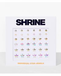 Nasty Gal Shrine Watch The Stars Face Jewels Set - Metallic