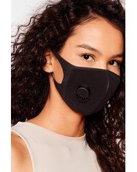 Nasty Gal Neoprene It Coming Fashion Face Mask - Black